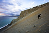 Steep uphill (psarasmus) Tags: nature landscape uphill steep climb sunset clouds sea waves water sand stones rocks effort crete agiospaulos
