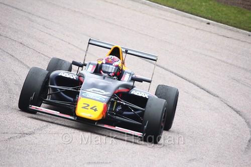 Dennis Hauger in British F4 pre-season testing 2018
