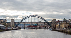 Bridges, Gateshead, Newcastle upon Tyne, North East England, UK. (CWhatPhotos) Tags: cwhatphotos tyne bridge swing tyneridge gateshead olympus penf pen f micro four thirds camera photographs photograph pics pictures pic picture image images foto fotos photography artistic that have which contain newcastle upon river bythe north east england uk span crossing blue water host city day skies buildings clouds reflection reflections