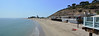 Los Angeles - Malibu Beach Panorama (Drriss & Marrionn) Tags: losangeles losangelesca la california usa citytrip sky coast malibu malibupier ocean waterside sea white wood pier mountain beach sand beachhouse people panorama lanscape seascape sunbathing