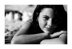 tomando el sol_analogica (Luis kBAU) Tags: bw portrait girl chica
