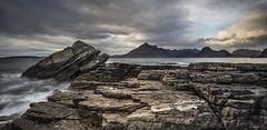 Rock on the Wild Side (SkyeWeasel) Tags: scotland skye elgol landscape seascape rock mountains cuillins blackcuillins panorama ngc npc