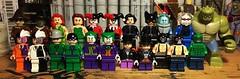 Then and Now (Lord Allo) Tags: lego dc batman villains scarecrow poison ivy harley quinn catwoman mister freeze twoface riddler joker penguin killer croc bane