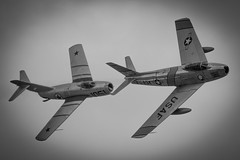 F-86 & Mig 15 Dogfight at El Centro Air Show 2018 (Vortex Photography - Duncan Monk) Tags: mig 15 mig15 f86 f16 planes of fame dog fight dogfight el centro airshow 2018 california united states america usa