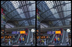 Hauptbahnhof Berlin 3-D / CrossEye / Stereoscopy / HDR / Raw (Stereotron) Tags: berlin spreeathen mitte metropole hauptstadt capital metropolis brandenburg city urban architecture contemporary modern escalator rolltreppe clock trainstation hauptbahnhof crosseye crosseyed crossview xview cross eye pair freeview sidebyside sbs kreuzblick 3d 3dphoto 3dstereo 3rddimension spatial stereo stereo3d stereophoto stereophotography stereoscopic stereoscopy stereotron threedimensional stereoview stereophotomaker stereophotograph 3dpicture 3dglasses 3dimage twin canon eos 550d yongnuo radio transmitter remote control synchron kitlens 1855mm tonemapping hdr hdri raw