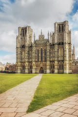 The West Front (Rich Walker75) Tags: wells cathedral cathedrals architecture buildings building religion historic history cloud sky grass path england landscape landscapes landscapephotography landmark landmarks canon efs1585mmisusm eos100d eos