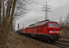 02_2018_03_23_Gelsenkirchen_Almastrasse_1232_254_DB_mit_Coilzug_Wanne_R (ruhrpott.sprinter) Tags: ruhrpott sprinter deutschland germany allmangne nrw ruhrgebiet gelsenkirchen lokomotive locomotives eisenbahn railroad rail zug train reisezug passenger güter cargo freight fret almastrasse abrn db mrcedispolokdispo dispo rbh flixtrain siemens 0275 1232 232 6182 182 6189 es64u2 es 64 u2 kraussmaffei krauss maffei outdoor logo natur