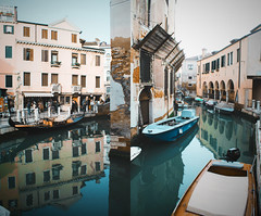 (Babette VM) Tags: venice venetie italy citytrip love europe europetour vacation vakantie vakance girl boy water building sky reflect city boat