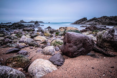 My favourite rocks and stones (NikNak Allen) Tags: plymouth devon heybrookbay bay coast sand stone stones rock rocks jagged sea water ocean sky horizon morning low longexposure close seascape