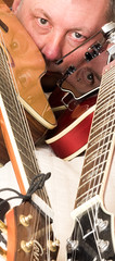 Selfie with guitars 02 (Andy Sut) Tags: selfie andysutton guitars crafter ibanez portrait studio