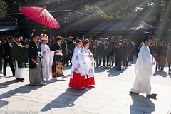 Marriage Procession (PermanentTraveller) Tags: tokyo meiji meijishrine leicaq wedding