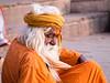 Old Sadhu in Varanasi (geolis06) Tags: geolis06 asia asie inde india uttarpradesh varanasi benares gange ganga ghat inde2017 olympus hindu hindou religieux religious sage sadhu banaras
