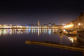 Preston Docks at night