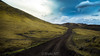 The Road to Middle-Earth (Iñaki MT) Tags: rock moss natural highlands nature panorama background iceland road extreme geology way scenic sky fantasy path landscape fields lava surreal terrain clouds volcanic mossy view covered scenery beautiful travel trip rocks island black green europe tourism dust field