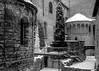 Tempietto di Santa Croce (Guido Colombini) Tags: middleage bergamo bw architechture church winter bianconero snow