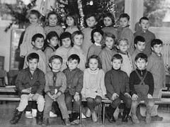Class photo (theirhistory) Tags: school class form group photo boys girls children kids dungarees coat shorts wellies rubberboots jacket