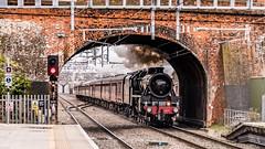 45212 Twyford 08 March 2018 (1) (BaggieWeave) Tags: berkshire twyford gwr gwml greatwesternrailway greatwesternmainline stanier black5 blackfive 45212 460 steamengine steamlocomotive steam steamtrain