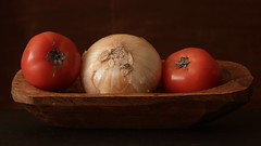 Tomato and Onion (N.the.Kudzu) Tags: home tabletop stilllife tomatoes onion canon70d industar50mmf35