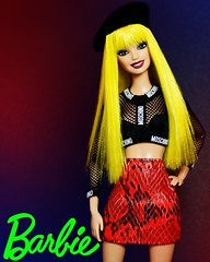 Happy birthday Barbie ❤️ (sailorb1959) Tags: barbie birthday video girl yellow hair doll 2010 fashionista mattel iconic neon red cool hot bitch