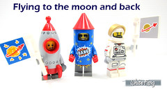 Flying to the moon and back (WhiteFang (Eurobricks)) Tags: lego collectable minifigures series city town space castle medieval ancient god myth minifig distribution ninja history cmfs sports hobby medical animal pet occupation costume pirates maiden batman licensed dance disco service food hospital child children knights battle farm hero paris sparta historic brick kingdom party birthday fantasy dragon fabuland circus