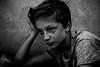Italian Portrait (PaxaMik) Tags: portrait portraitnoiretblanc noiretblanc noir n§b black blackandwhitephotos contraste freckles tachesderousseur visage face penseur pensif lepenseur