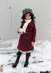 Trench Coat in Winter (Anandoll) Tags: adleysoslan smilevillainsmile withdoll cathy loongsoul hybrid bjd