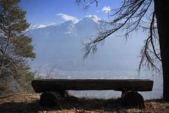 paisible (bulbocode909) Tags: valais suisse montagnes bancs arbres troncs nuages bleu pierreavoi nature hiver