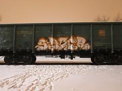 Saber never sleeps (Freight_punk) Tags: freighttraingraffiti freights freightheaven freightporn freighttrain freightgraffiti freightlife freightlove fr8 graffiti chrome gondolacar saber moscow russia freightwriting