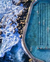 Bronte Pool (Jay Daley) Tags: drone dronephotography drones dji phantom4pro aerial aerialphotography sydney bronte ocean pool water coast nsw australia