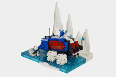 Ice Penguin Excursion (thebrickbin) Tags: lego moc afol ice planet penguin penguins 2002 excursion rover space sci fi science fiction ski doo snow mobile snowmobile learning training arctic