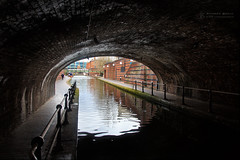 Up tha cut (RichardBeech) Tags: birmingham tunnel canal cut water dark brum midlands blackcountry uk industrial transport history canon canon5dmarkiii 24105mm bridge barges reflections bridges