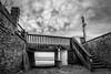 Saint Aubin sur Mer (Jacky Hervieux) Tags: noiretblanc blackandwhite bnw normandy saintaubinsurmer calvados bridge