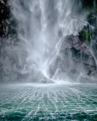 Torrent (bfcnz) Tags: waterfall milfordsound water milford sound closeup crop nz teanau