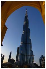 Burj Khalifa at dusk (posterboy2007) Tags: burjkhalifa soukalbahar uae dubai arch architecture