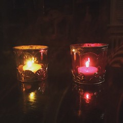 Gothic tea light holders (the ghost in you) Tags: goth gothic tealight candles