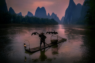 The fisherman at dawn.