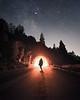 Into the Night (jevanleith) Tags: longboard longboarding yosemite milky way milkyway stars dark tunnel light nightscape bright glowing composite