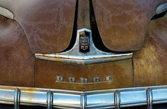 (rickhanger) Tags: automotive automobile auto car antiquecar chrome ornament grill hood hoodornament rust rusty dodge vehicles insignia
