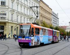 Brno, Joštova 21.10.2016 (The STB) Tags: brno tram tramway strassenbahn strasenbahn tramvaj tramvaje publictransport citytransport öpnv czechrepublic českárepublika