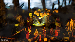 Witches' Party (The Aphol) Tags: lego cauldron legography legophotography magic monsters party scare stuckinplastic toy toyphotographers toyphotography witch wizard horror spooky monster humour