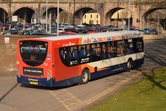 SW 28690 @ Kilmarnock bus station (ianjpoole) Tags: stagecoach western scania k230ub alexander dennis enviro 300 yn64ahc 28690 working route 4 ayr bus station glasgow buchanan street