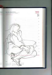 SIRENA (GARGABLE) Tags: angelbeltrán apuntes sketch drawings cuaderno gargable pluma