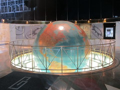 Daily News Lobby Globe East 42nd st NYC 7780 (Brechtbug) Tags: daily news lobby globe east 42nd street new york city 2018 nyc earth model stand for planet 1978 superman movie with christopher reeve paper newspaper print media sphere map maps globes spinning slowly