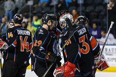 "Kansas City Mavericks vs. Ft. Wayne Komets, March 2, 2018, Silverstein Eye Centers Arena, Independence, Missouri.  Photo: © John Howe / Howe Creative Photography, all rights reserved 2018 • <a style=""font-size:0.8em;"" href=""http://www.flickr.com/photos/134016632@N02/40598288032/"" target=""_blank"">View on Flickr</a>"
