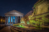 Night time at the old Pantheon (Jacob Surland) Tags: architecture art building calm caughtinpixels city cityscape country fineart fineartphotography fontanadelpantheon fountain geometry hdr highdynamicrange historic historiccentre italy jacobsurland lines lowangleview night oldbuilding pantheon rome stars time tourism travel traveldestination travelandtourism urban