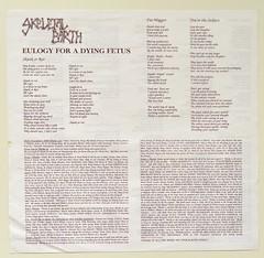 A0527 SKELETAL EARTH Eulogy for Dying Fetus (vinylmeister) Tags: vinylrecords albumcoverphotos gramophone lp heavymetal thrashmetal deathmetal blackmetal vinyl schallplatte disque album