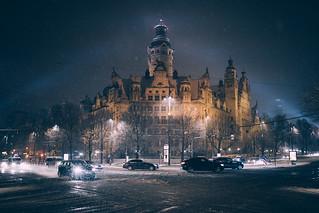 Snowstorm in Leipzig