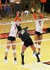 Threading the needle (RPahre) Tags: block swing defense volleyball illinois purdue purdueuniversity universityofillinois huffhall huff bigten b1g champaign azariahstahl megancooney tyannaomazic