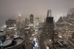 New York City | FiDi Snowstorm 01 (Christopher James Botham) Tags: newyorkcity newyork nyc ny manhattan lowermanhattan financialdistrict fidi exchangeplace 20exchangeplace wallstreet aerial skyline tower skyscraper architecture building urban city cityscape night snow storm snowstorm lowlight longexposure