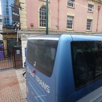 Polish coach outside Reflex on Broad Street, Birmingham - RAF TRANS thumbnail